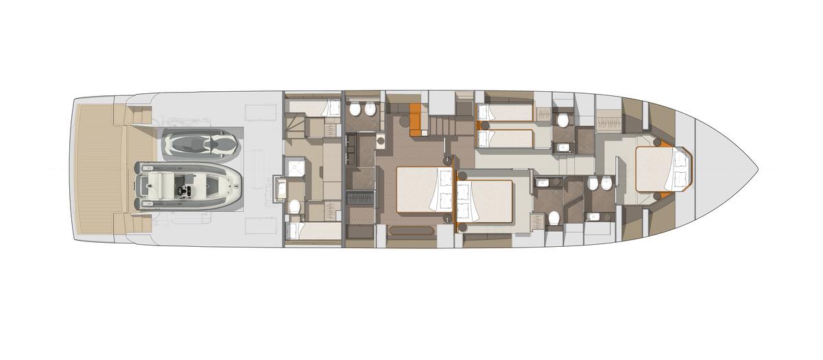 Cranchi78 Lower Deck