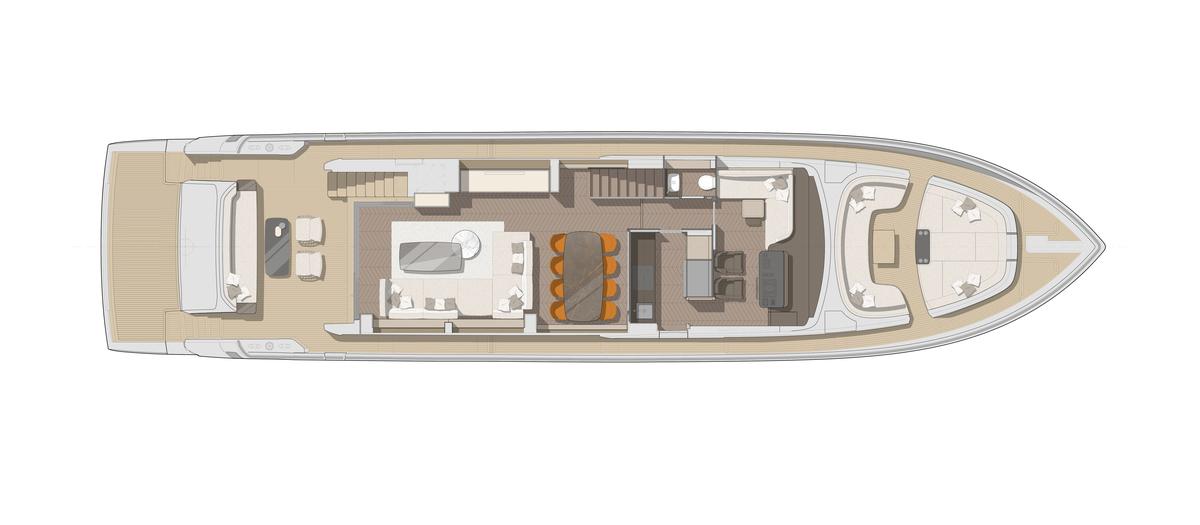 Cranchi78 Main Deck